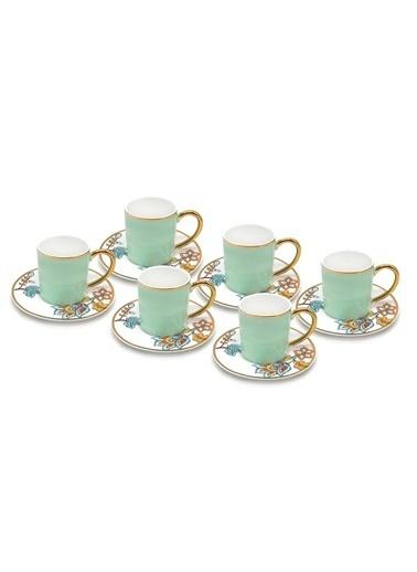 The Mia Dilaila Kahve Fincanı 6 Lı Set - Yeşil Yeşil